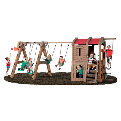 Step 2 Naturally Playful Adventure Lodge Plastic Play Center with Glider