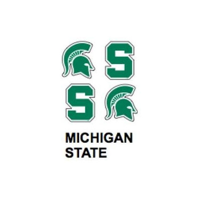 Innovative Adhesives BC-12 Michigan State Fan-A-Peel Temporary Tattoo-Sticker