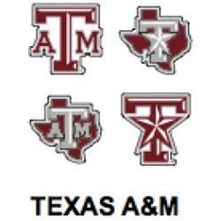 Innovative Adhesives BC-12 Texas A & M Fan-A-Peel Temporary Tattoo-Sticker