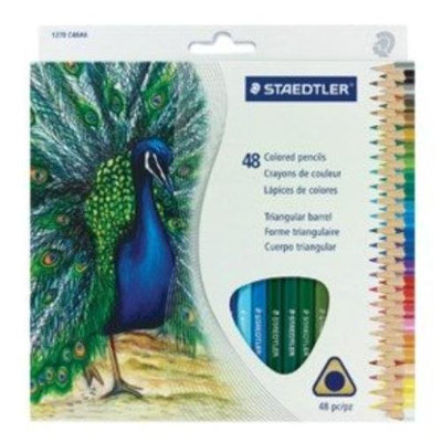 Staedtler Tradition Colour Pencil Set - 2.9mm Lead Size - Assorted Lead - Wood Barrel - 48 / Box (1270c48a6)