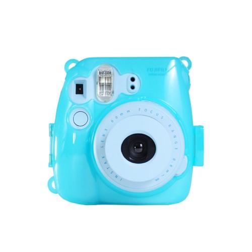 Colorful Plastic Protect Case for Fujifilm Instax Mini 8 Polaroid Camera Blue