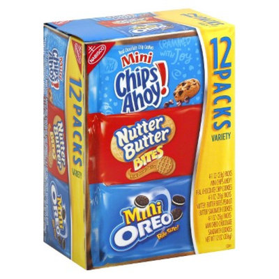 NABISCO Nabisco Mini Cookie Variety Pack 12 Count