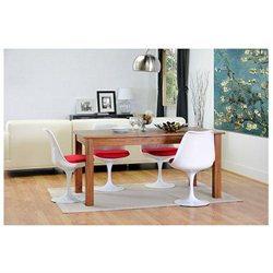 Club Chairs Baxton Studio Cyma White Chair DR73238