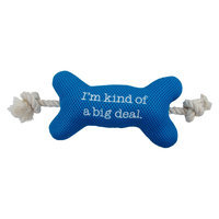 Boots & Barkley Boots and Barkley Mesh Bone with Rope Dog Toy