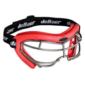 J. Debeer & Son Inc. DeBeer Lacrosse Vista SI Goggle Red Frame and Silver Wire