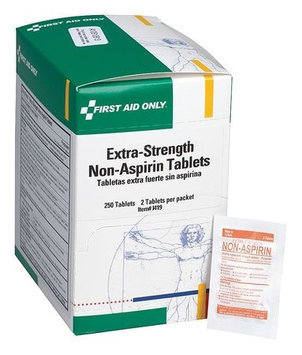 FIRST AID ONLY I419 Extra Strength Non-Aspirin,500mg, PK250