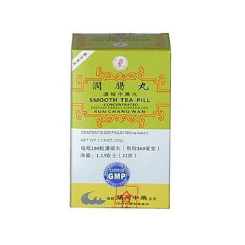 SMOOTH TEA PILL (RUN CHANG WAN) 160mg X 200 pills per bottle