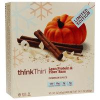 thinkThin Pumpkin Spice Protein Bar & Fiber Bars