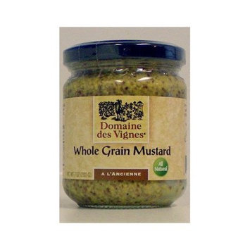 Domaine des Vignes 52001 7 oz. Whole Grain Mustard Pack of 6