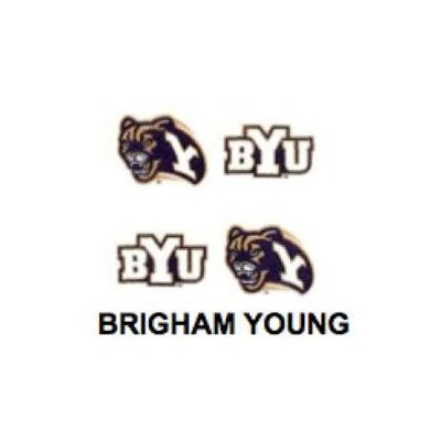 Innovative Adhesives BC-12 Brigham Young University Fan-A-Peel Temporary Tattoo-Sticker