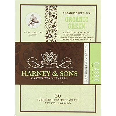 Harney & Sons Harney and Sons Tea Organic Green With Ginkgo And Citrus Sachets 20 Count