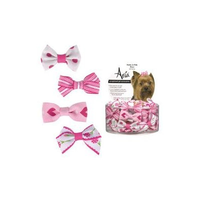 Aria Pretty Dog Bows in Pink (48 Pieces)