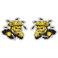 Innovative Adhesives BC-12 Wichita State Fan-A-Peel Temporary Tattoo-Sticker