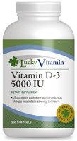 LuckyVitamin - Vitamin D-3 5000 IU - 200 Softgels