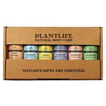 Plantlife Essential Oil Home Aromatherapy Sampler Set- 6/10 ml.