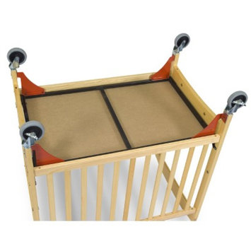 Foundations Evacuation Frame with Chrome Casters for White Cribs (fits