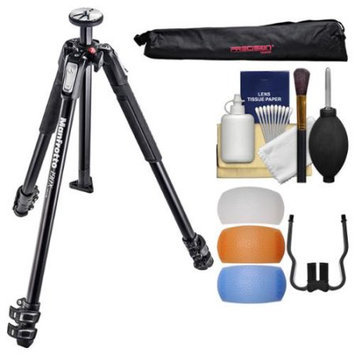 Manfrotto 190X 3-Section Aluminum Tripod with Case + Diffuser Filter Set + Kit