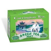 Carrington Tea Green Tea with Mint, 20-Count Tea Bags (Pack of 6)