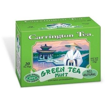 Carrington Tea Green Tea with Mint, 20-Count Tea Bags (Pack of 6)