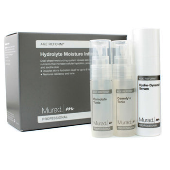 Murad Hydrolyte Moisture Infusion Set (Salon Size): Hydro-Dynamic Serum + Osmolyte Tonic 16pcs