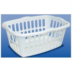 Sterilite White Rectangular Laundry Basket 12458012 - Pack of 12