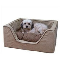 O'donnell Industries Odonnell Industries 21387 Luxury Large Square Dog Bed - Black-Herringbone