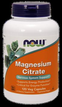 NOW Foods Magnesium Citrate Veg Capsules
