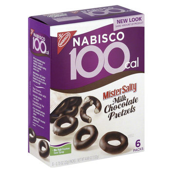 Nabisco 100 Cal Mister Salty Milk Chocolate Pretzel 6 Ct