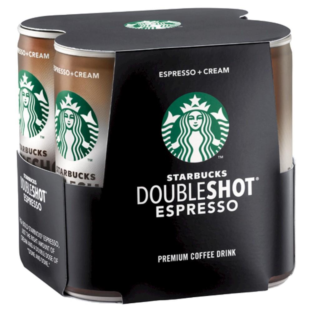 Starbucks Double Shot Espresso And Cream Coffee Drink