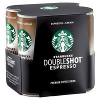 Starbucks Double Shot Espresso And Cream Coffee Drink