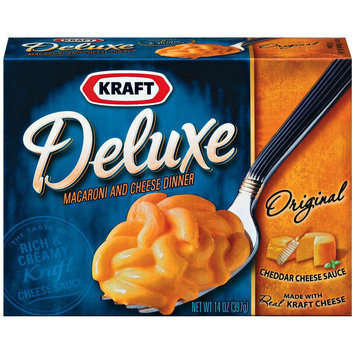 Kraft Deluxe Original Cheddar Macaroni & Cheese Dinner 14 oz
