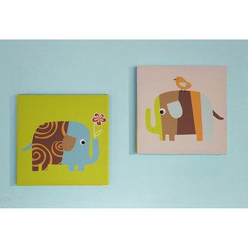 Zutano Elephants Canvas Wall Art-2 Pc.