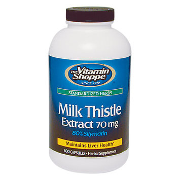 Vitamin Shoppe Milk Thistle Extract 70 MG - 600 Capsules - Milk Thistle