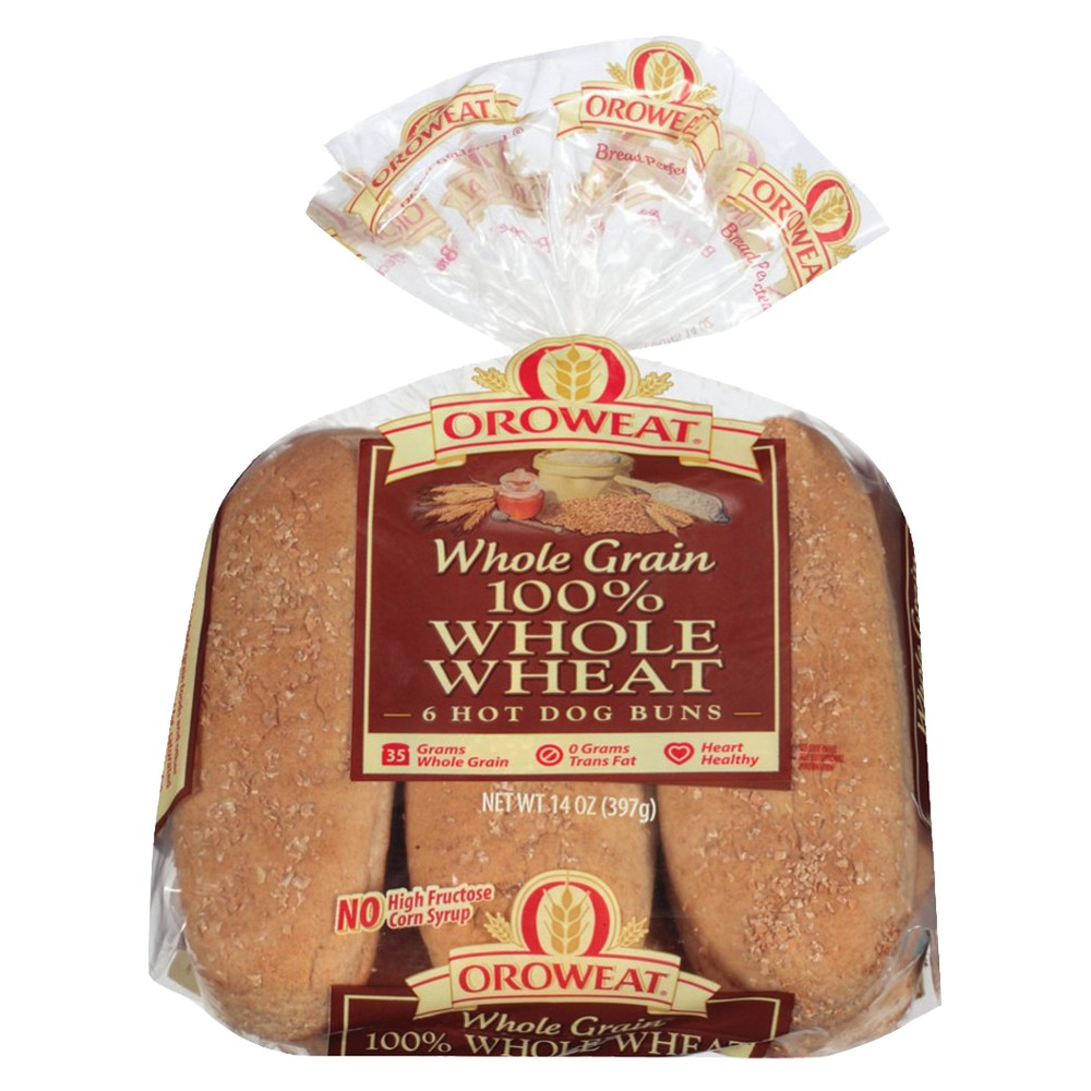 Oroweat 100% Whole Wheat Hotdog Buns - 8-ct.