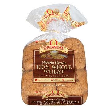 Oroweat 100% Whole Wheat Hamburger Buns - 8-ct.