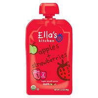 Ella's Kitchen Stage 1 Apples & Strawberries Organic Pureed Baby Food 3.5oz