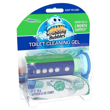 S.c. Johnson Scrubbing Bubbles Toilet Cleaning Gel Kit with Glade Rainshower Scent - 6 Count