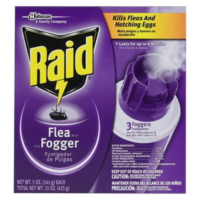 Raid Flea Killer Plus Fogger 3 ct