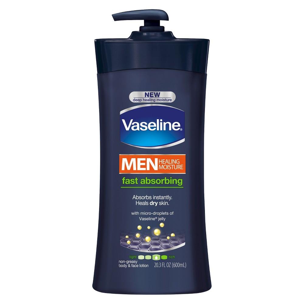 Vaseline Men Healing Moisture Fast Absorbing Body & Face Lotion