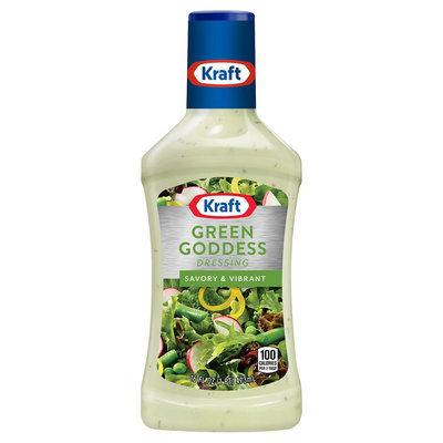 Kraft Green Goddess Salad Dressing Plastic Bottle 16 oz