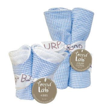 Trend Lab Bibs and Burp Cloths Bouquet Set - Seersucker Blue