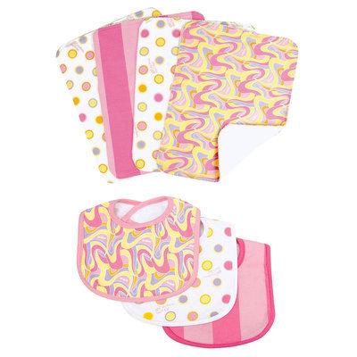 Trend Lab Dr. Seuss Pink Bib & Burp Cloth Bouquet Set
