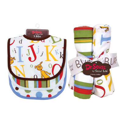 Trend Lab Dr. Seuss ABC Bib & Burp Cloth Bouquet Set