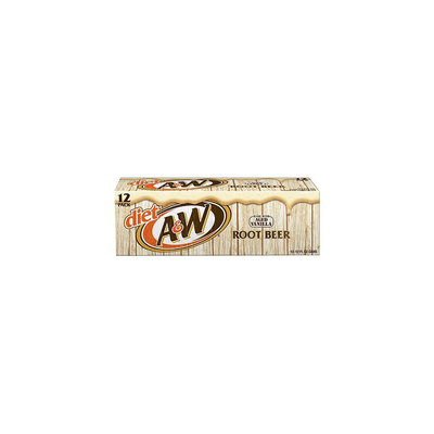 A & W Diet Vanilla Root Beer 12 oz, 12 pk