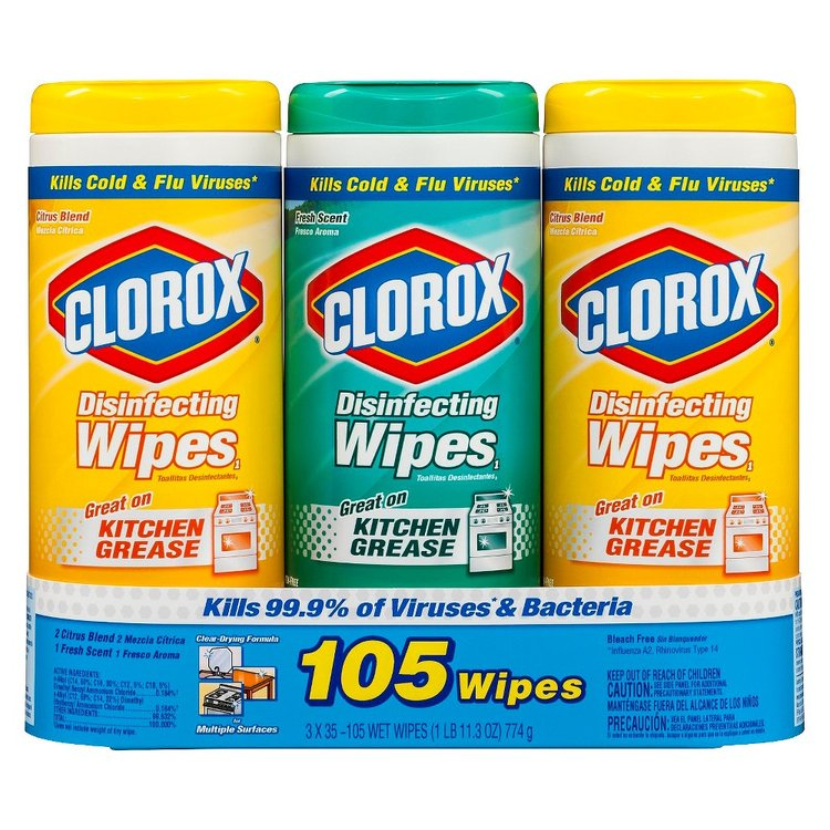 Clorox Disinfecting Wipes - 3x35ct - Variety Scent Pack