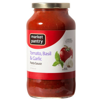 Market Pantry All Natural Basil & Garlic Tomato Pasta Sauce 26oz