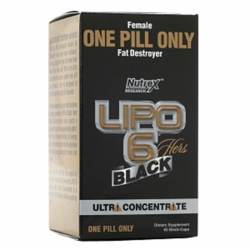 Nutrex Research Lipo 6 Black Hers Fat Destroyer