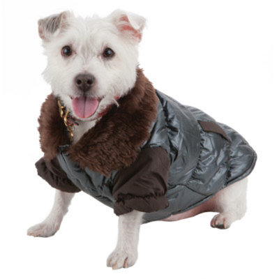 Pet Life Ultra-Fur Collared Dog Coat