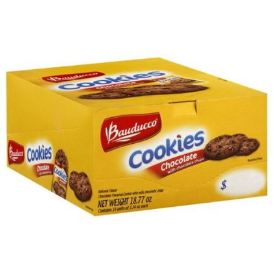 Bauducco Single Serve Cookies, Chocolate, 1.34-Ounce (Pack of 14)