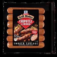 McCormick® Grill Mates® Chipotle & Cheddar Smoked Sausage